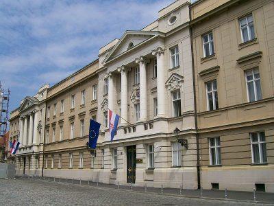 A szábor épülete Zágrábban