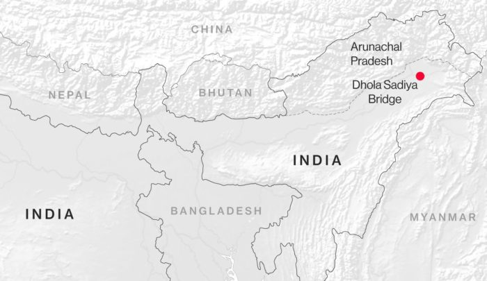 Arunachal Pradesh - a vitatott határszakasz Kép forrása: Bloomberg
