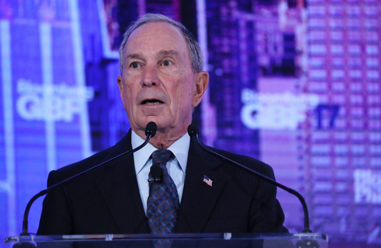 A Bloomberg alapítója, New York volt polgármestere Michael A. Bloomberg a Bloomberg Global Business Forum megnyitóján a Plaza Hotelben, New Yorkban 2017. szeptember 20-án. EPA/ANDREW GOMBERT