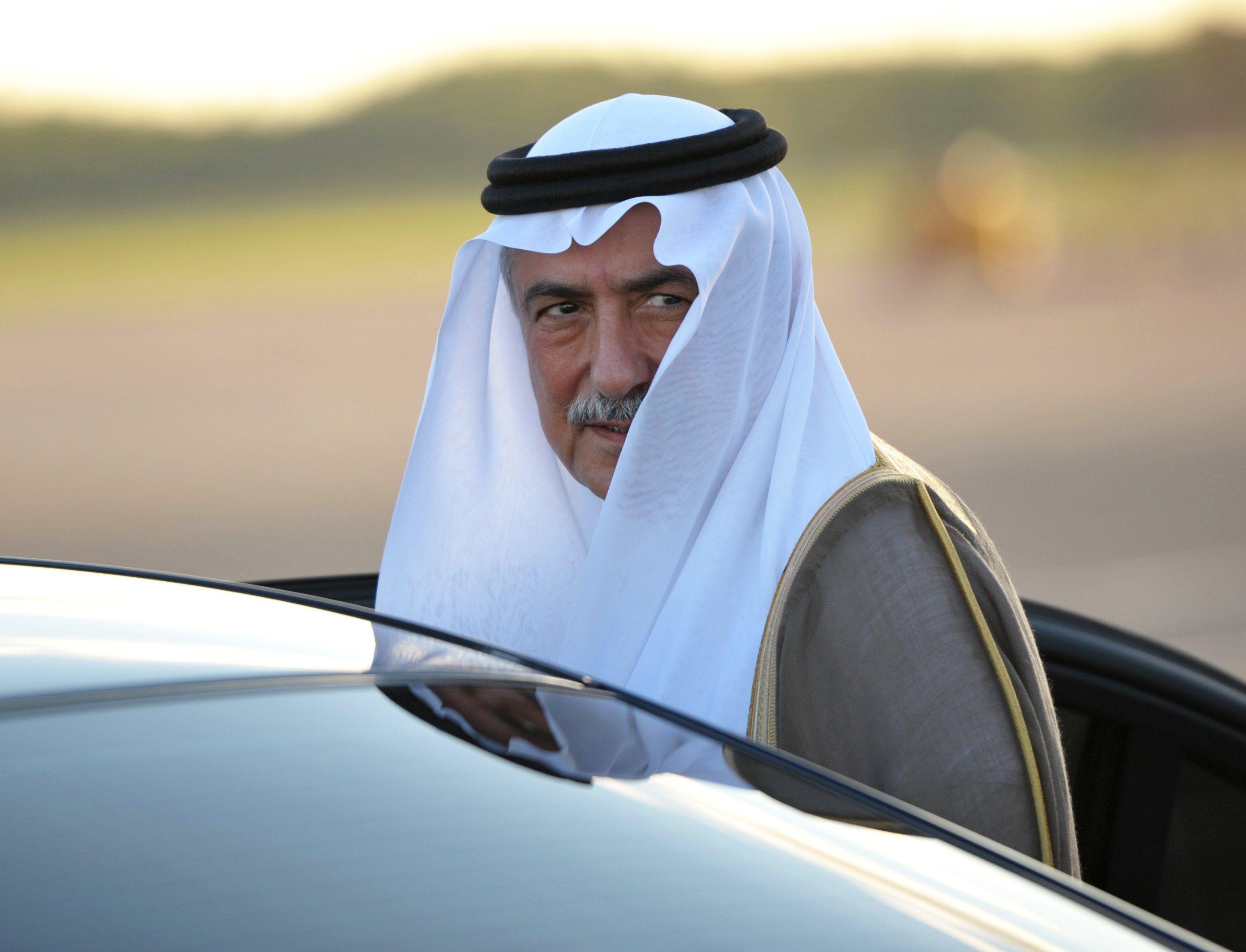A szaúdi pénzügyminiszter Ibrahim bin Abdulaziz Al-Assaf 2013. szeptember 4-én, a szentpétervári reptéren, amint a G20-csúcsra érkezik. Az ő neve is szerepelt az anti-korrupciós bizottság letartóztatási listáján.  EPA/KONSTANTIN SALOMATIN / POOL