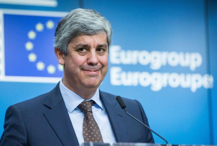 Mario Centeno portugál pénzügyminiszter, az euróövezet pénzügyminisztereit tömörítõ Eurócsoport új elnöke a megválasztását követõ sajtótájékoztatón az Európai Tanács brüsszeli székházában 2017. december 4-én. A portugál miniszter Jeroen Dijsselbloem volt holland pénzügyminisztertõl veszi át az elnöki tisztséget. (MTI/EPA/Stephanie Lecocq)