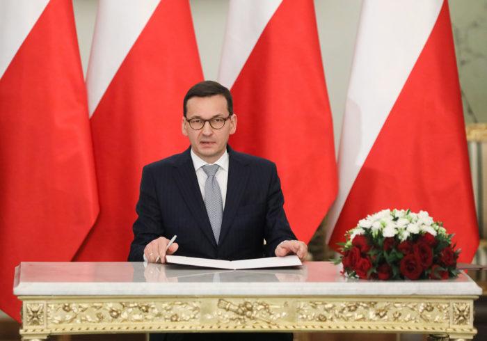 Varsó, 2017. december 11. Mateusz Morawiecki újonnan kinevezett lengyel miniszterelnök a varsói elnöki palotában 2017. december 11-én. (MTI/EPA/Pawel Supernak)