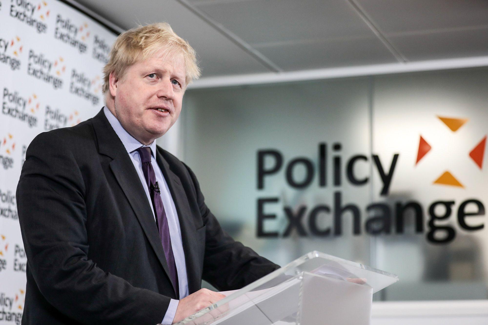 Boris Johnson brit külügyminiszter beszédet mond Londonban a Brexit-folyamatról, 2018. február 14-én. EPA/Simon Dawson / POOL