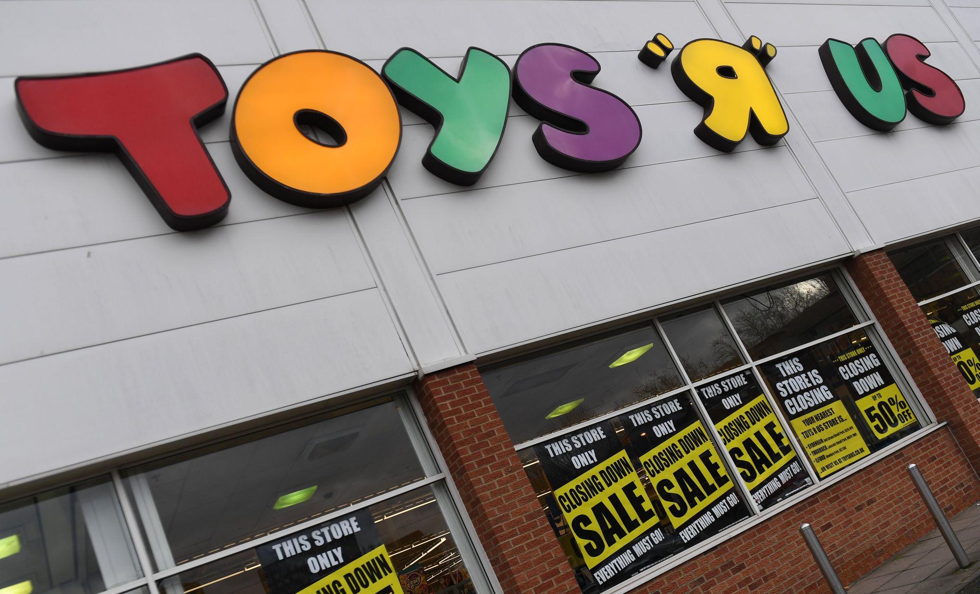 Egy bezárás előtt álló Toys R Us üzlet Londonban, Nagy-Britanniában 2018. február 9-én. Február 28-án a Toys R Us UK csődvédelmet kért, ezzel 3000 munkahely vált bizonytalanná. EPA/ANDY RAIN