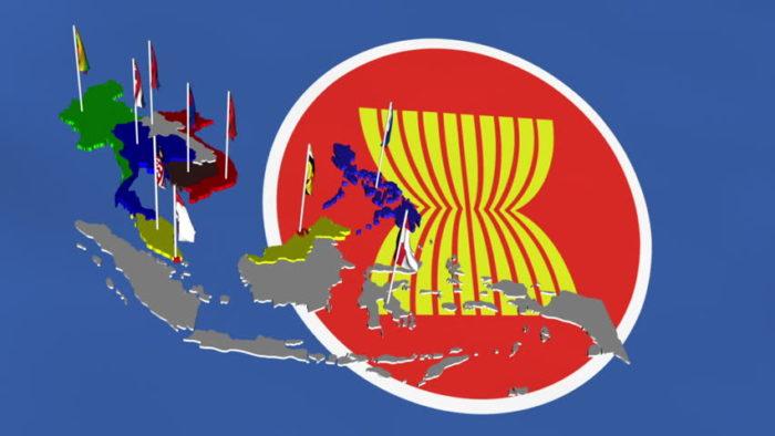 ASEAN logo és tagállamai