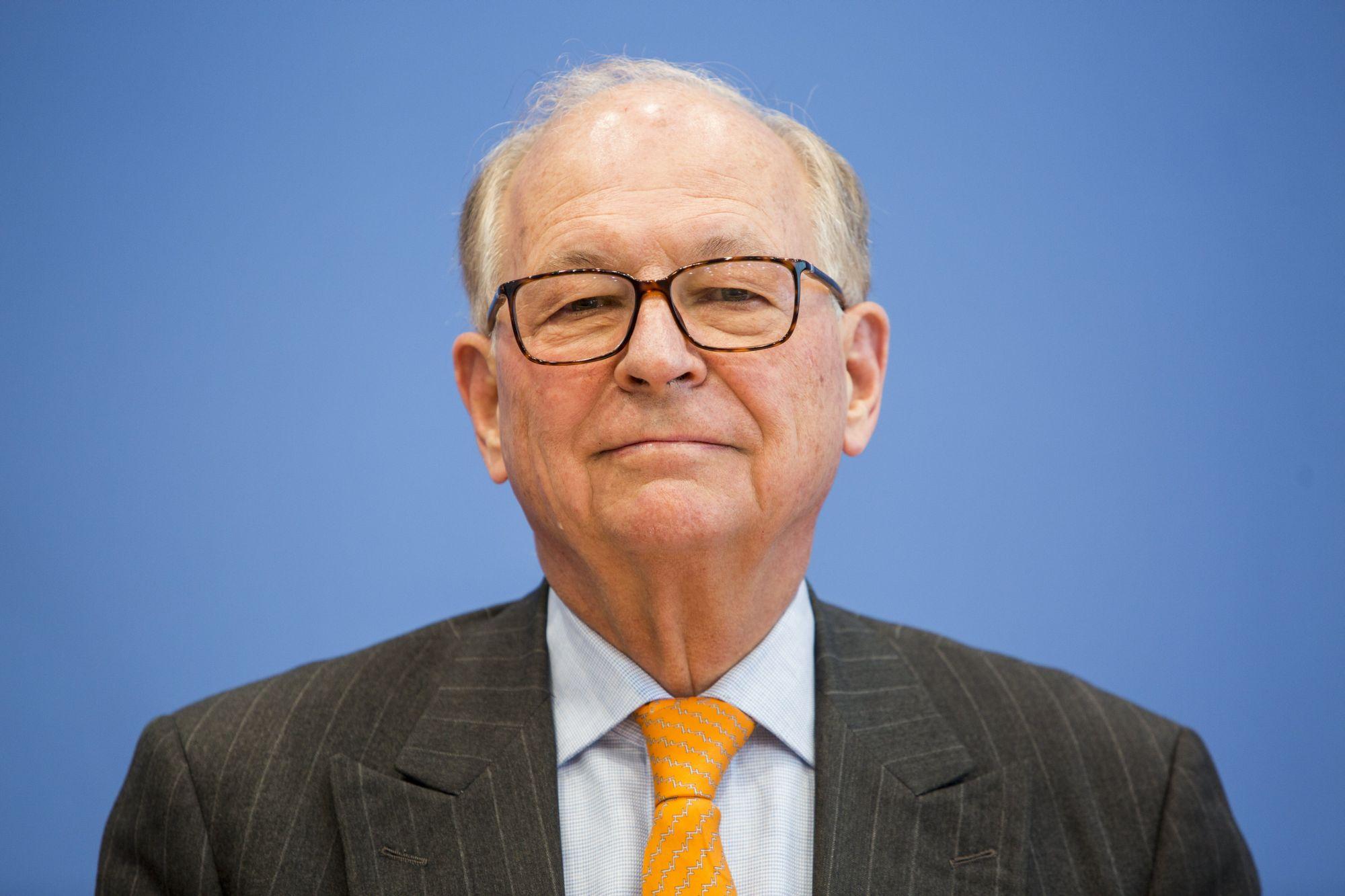 Wolfgang Ischinger, az MSC elnöke Berlinben, 2018. február 8-án. EPA/OMER MESSINGER