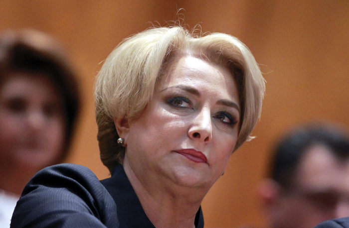 epa06696976 (FILE) - Designated Romanian Prime Minister Viorica Dancila prepares to address lawmakers during the validation vote session held at the Parliament palace, in Bucharest, Romania, 29 January 2018 (reissued 27 April 2018). According to reports, Romanian President Iohannis demanded that Viorica Dancila resigns from her post. The row comes over Dancila's remarks that Romania should move its Israeli embassy to Jerusalem. EPA/BOGDAN CRISTEL