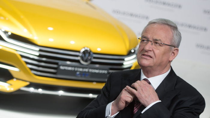 epa06710188 (FILE) - Former CEO of German car manufacturer Volkswagen (VW), Martin Winterkorn, fixes his tie prior to the start of the balance press conference in Berlin, Germany, 12 March 2015 (reissued 04 May 2018). Former Volkswagen CEO, Martin Winterkorn, has been indicted on fraud charges in the US over its efforts to conceal compliance with US federal emission standards.  EPA/JOCHEN LUEBKE  GERMANY OUT